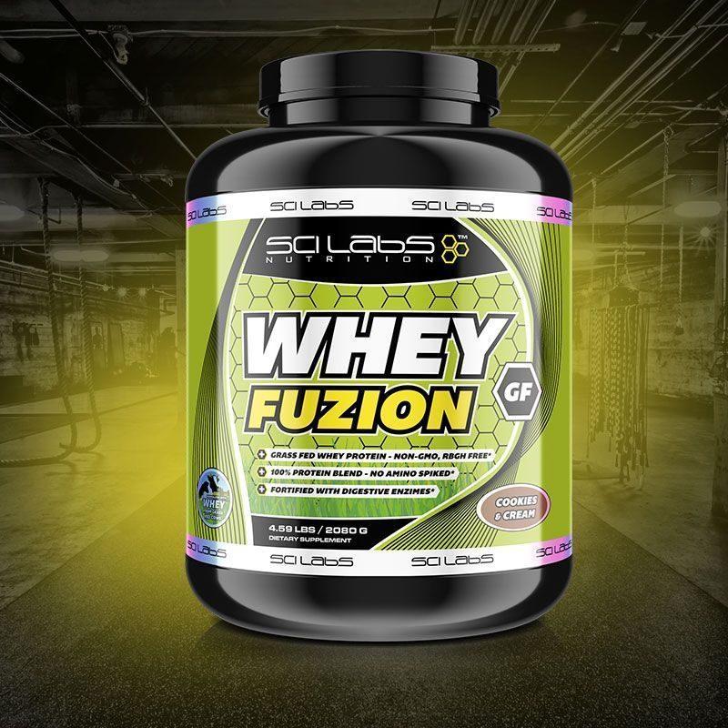 Whey Fuzion GF - Proteína de ganado orgánico de Scilabs Nutriton