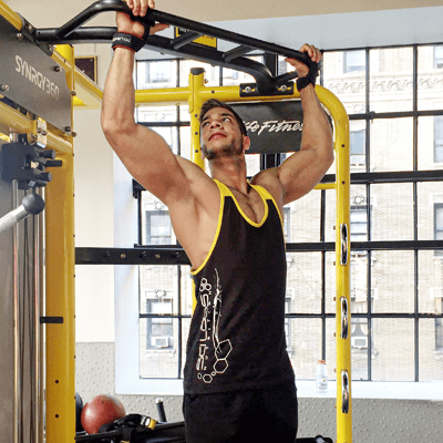 Black & Yellow Straps Scilabs Tank Top