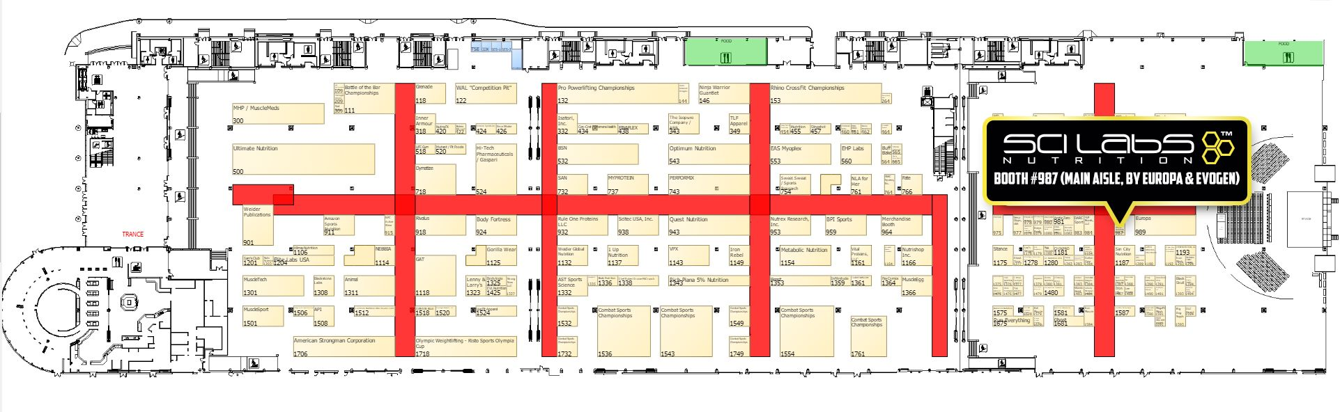 Scilabs Nutrition – Booth #987 (main aisle, by Europa & Evogen)