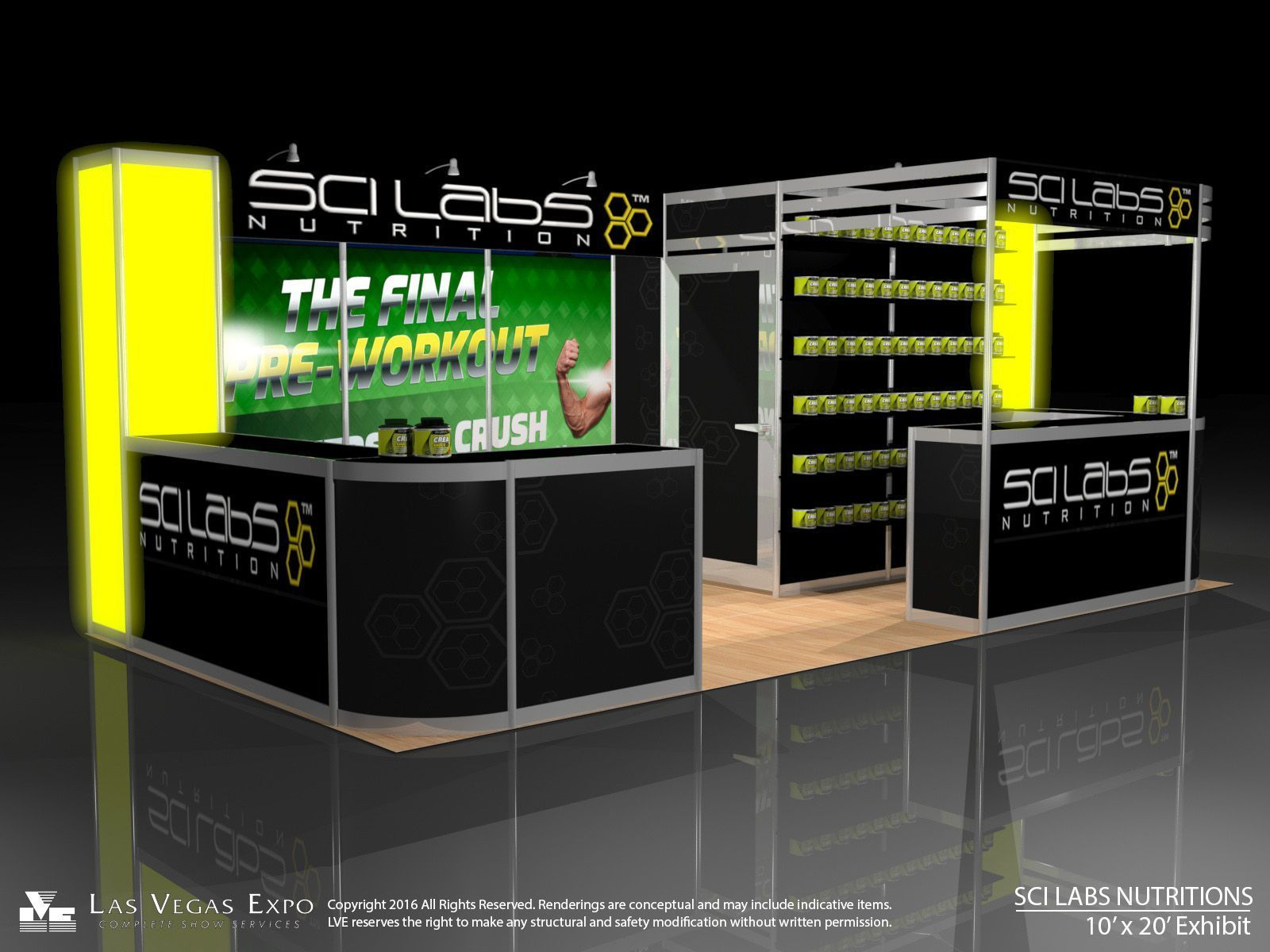 Scilabs Nutrition at Mr Olympia - Las Vegas Expo Booth